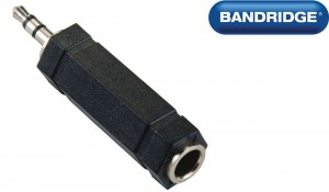 BANDRIDGE BAP446 ADAPTER [3.5mm M - 6.3mm F stereo]